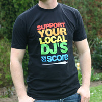 Support Your Local DJs Logoshirt (Black)