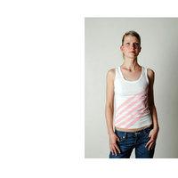 NL - Temper Stripe (White Woman Top)