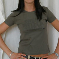 TERMINAL M GIRLIE SHIRT - NEW DESIGN OLIVE