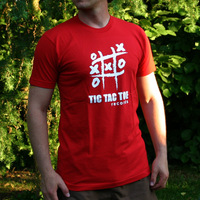Tic Tac Toe Logo Shirt (Red)