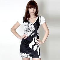 Trentemoeller Designer Dress (White / Black)