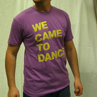 We Came To Dance Logoshirt (Flieder / Yellow)