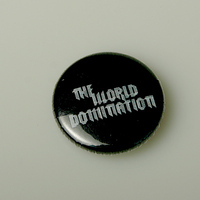 World Domination Button (Black)
