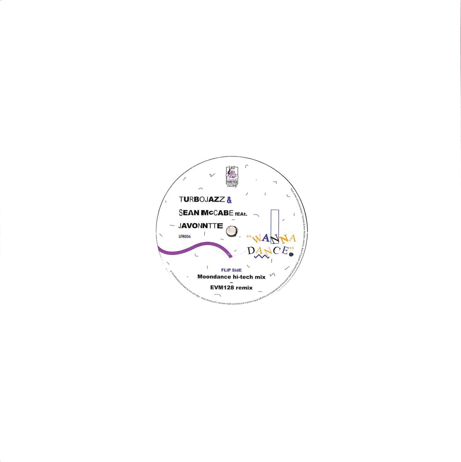 Turbojazz / Sean Mccabe Featuring Javonntte - WANNA DANCE