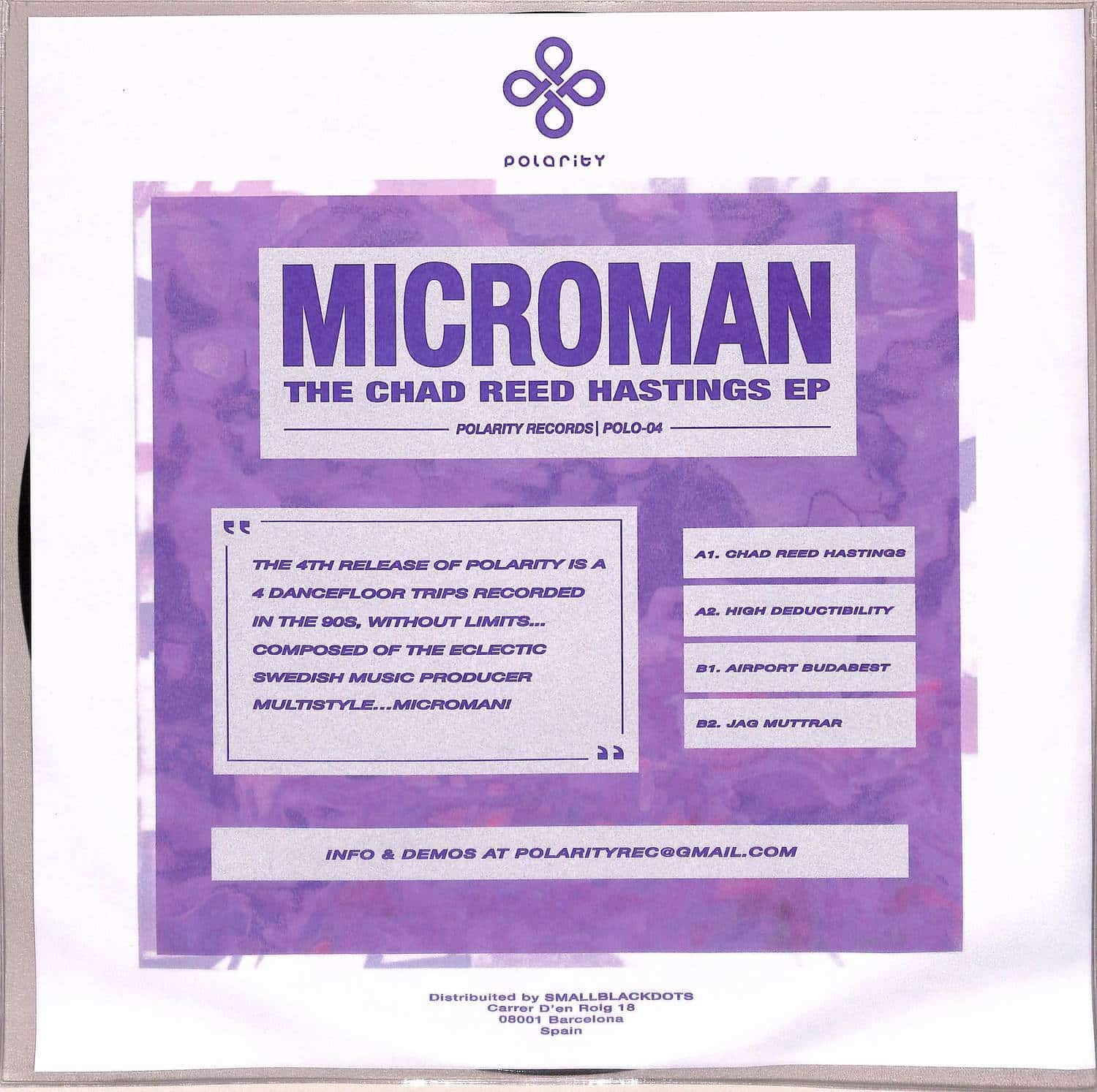 Microman - THE CHAD REED HASTINGS EP