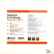 Back View : Various Artists - GOA 09 EP 3 - Defected / ITH27ep3
