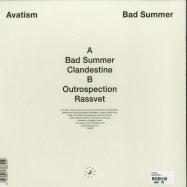 Back View : Avatism - BAD SUMMER - Parachute / PAR020