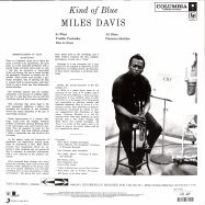 Back View : Miles Davis - KIND OF BLUE (CLEAR LP + MP3) - Sony Music / 19439802191