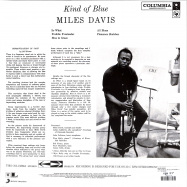 Back View : Miles Davis - KIND OF BLUE (BLUE COLOURED LP) - Col / 19075883491