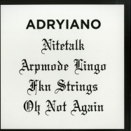 Back View : Adryiano - NITE TALK EP - Shall Not Fade / SNF018