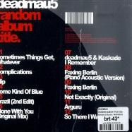 Back View : Deadmau5 - RANDOM ALBUM TITLE (CD) - Ministry Of Sound / MAU5CD01
