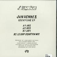 Back View : Jan Hendez - GEEKY CAVE EP - Lumbago / LMBG04