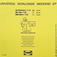 Back View : Michal Zietara & Oskar Szafraniec - UNIVERSAL WORLDWIDE WEEKEND EP (VINYL ONLY) - Loser Records / LSR01