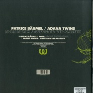 Back View : Patrice Baeumel, Adana Twins - ROARS REMIX / AUFSTAND DER MASSEN - Watergate Records / WGVINYL52