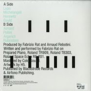 Back View : Fabrizio Rat - THE PIANIST (LP) - Blackstrobe / BSR024 / 147521