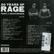 Back View : Fabio & Grooverider - 30 YEARS OF RAGE (2CD) - Above Board Projects  / RAGECD1