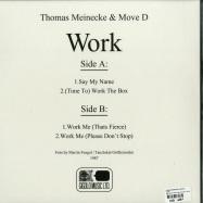 Back View : Thomas Meinecke & Move D - WORK - International Deejay Gigolo Records / GIGOLO307V