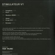 Back View : Noir - STIMULATEUR V1 (2X12 INCH) - Noir Music / STIM001