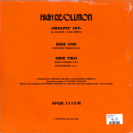 Back View : High Resolution - SWEEPIN OFF - Best Record / S.P.Q.R. 1115/R