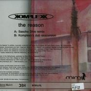 Back View : Komplexx - THE REASON (SASCHA DIVE REMIX) - Mimi Music / mimi001