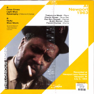 Back View : Thelonious Monk - AT NEWPORT 1963 (LP) - Naked Lunch / ND016 / 00142471
