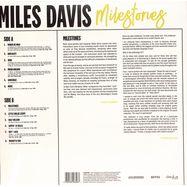 Back View : Miles Davis - MILESTONES (LP) - Dreyfus Jazz / 405053848398