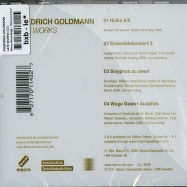 Back View : Friedrich Goldmann - LATE WORKS (CD) - Macro Recordings / Macrom24CD