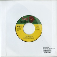 Back View : Natural Impulse - SHE WENT AWAY / TIME IS IGHT (7 INCH) - Soul Junction / sj502