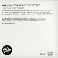 Back View : L Kubic & Tagtraeumer - THE ONLY THING IN THIS WORLD (ALLE FARBEN REMIX) - Neopren / neo025