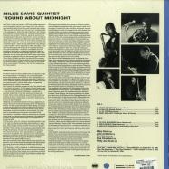 Back View : Miles Davis - ROUND ABOUT MIDNIGHT (LTD BLUE 180G LP) - Waxtime in Color / 950667 / 8818386