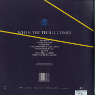 Back View : The Revenge - WHEN THE THRILL COMES (2X12 LP, B-STOCK) - Roar Groove  / RGRV020