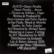 Back View : Davis - DANCE PERALTA - Live at Robert Johnson / Playrjc 062
