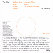 Back View : Elori Saxl - THE BLUE OF DISTANCE (LTD CLOUDY CLEAR LP + MP3) - Western Vinyl / WV211LP / 00143613