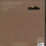 Back View : Cristi Cons & Sublee - YOU AND ME - Serialism / SER040