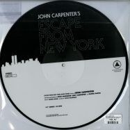 Back View : John Carpenter - HALLOWEEN / ESCAPE FROM NEW YORK (PICTURE DISC) - Sacred Bones / SBRPIC 156 / 00097350