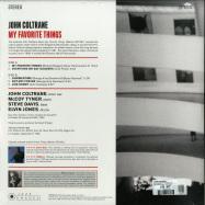 Back View : John Coltrane - MY FAVORITE THINGS (180G LP) - Jazz Images / 1019133EL2