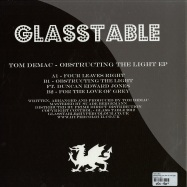 Back View : Tom Demac - OBSTRUCTING THE LIGHT EP (PICTURE DISC) - Glasstable / gt04t