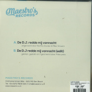Back View : Northy Davies - DE D.J. REDDE MIJ VANNACHT (7 INCH) - Meastros Records / MR002