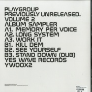 Back View : Playgroup - PREVIOUSLY UNRELEASED VOLUME 2 - Yes Wave / YW002X