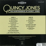 Back View : Quincy Jones - THE QUINTESSENCE OF QUINCY JONES (LP) - Culture Factory / 3700477829346