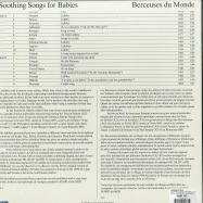 Back View : Various Artists - SOOTHING SONGS FOR BABIES. BERCEUSES DU (LP) - MENTAL GROOVE - MEG / MEGMG0003LP