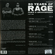 Back View : Fabio Grooverider - 30 YEARS OF RAGE PART 1 (LIMITED CLEAR VINYL, 2LP) - Above Board Projects / RAGELPPT1LTD