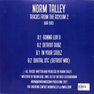 Back View : Norm Talley - TRACKS FROM THE ASYLUM 2 - Upstairs Asylum Recordings / UAR003