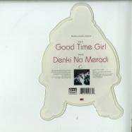 Back View : DMX Krew - GOOD TIME GIRL / DENKI NO MERODI (CUSTOM SHAPE PIC 7 INCH) - Rephlex / CAT086