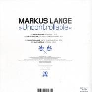 Back View : Markus Lange - UNCONTROLLABLE (INCL FLINSCH N NILSON REMIX) - Craft Music / craft0226