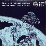 Back View : Push - UNIVERSAL NATION (BART SKILS REMIX) (COLOURED BLUE VINYL) - BONZAI VINYL / BV2019011