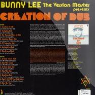 Back View : Bunny Lee - CREATION OF DUB (LP) - Jamaican / jrlp040