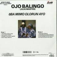 Back View : Ojo Balingo - AFROTUNES - BEST OF JUJU VOL. II (180G LP) - BBE Africa / BBE494ALP