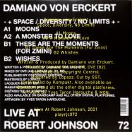 Back View : Damiano von Erckert - SPACE DIVERSITY NO LIMITS - Live at Robert Johnson / Playrjc 072