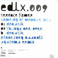 Back View : Terence Fixmer - COMEDY OF MENACE PART 1 - Electric Deluxe / EDLX009